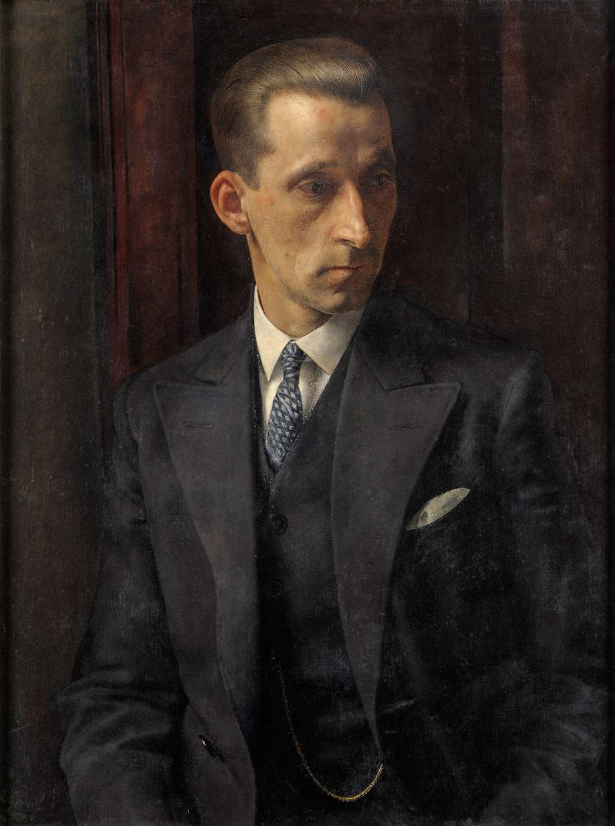 Alber Heinrich . Portrait eines Herren im eleganten Anzug
