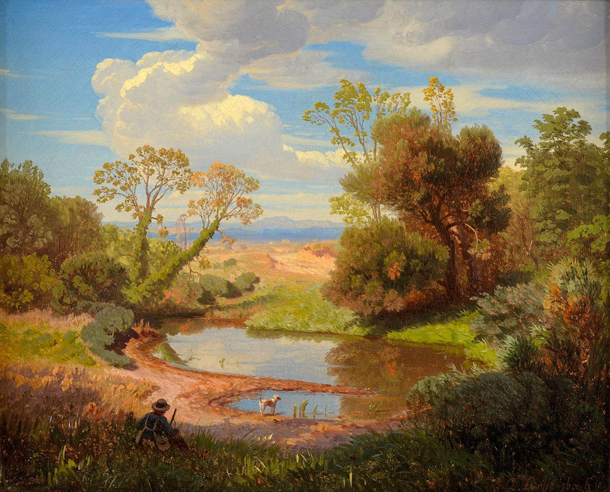 Andrea Achenbach . Römische Landschaft