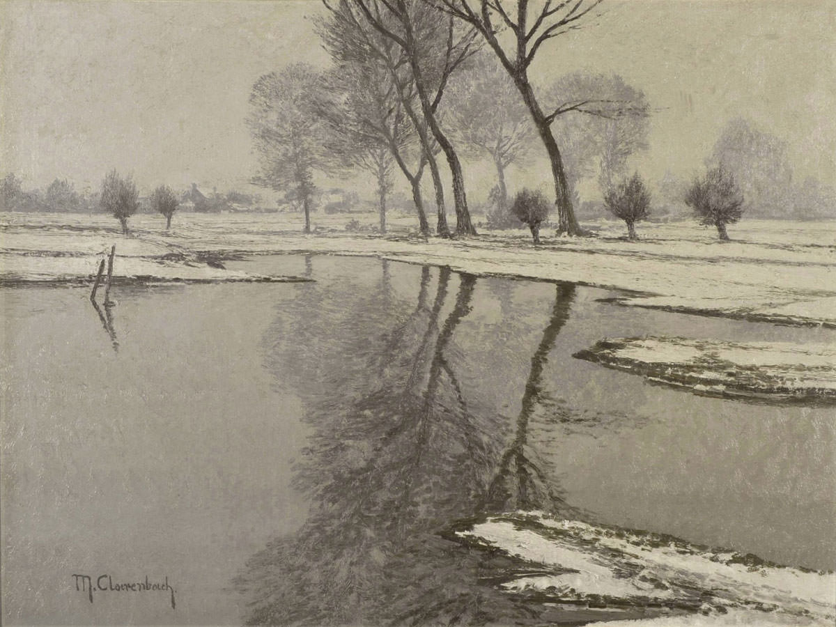 Max Clarenbach . Altwasser bei Wittlaer