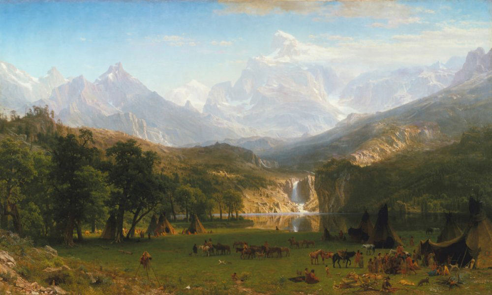 Albert Bierstadt . The Rocy Mountains, Lander's Peak . Öl /Leinwand . 186,7 x 306,7 cm