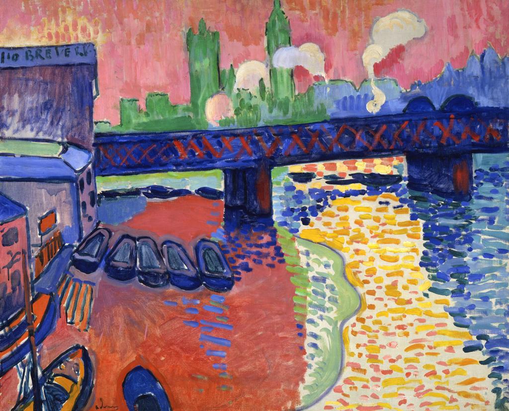 André Derain. Charing Cross Bridges. 1906. Öl / Leinwand.