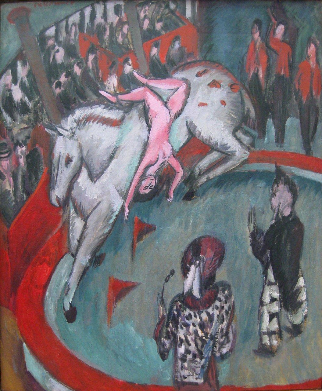 Ernst Ludwig Kirchner. Die Zirkusreiterin. 1913. Öl / Leinwand