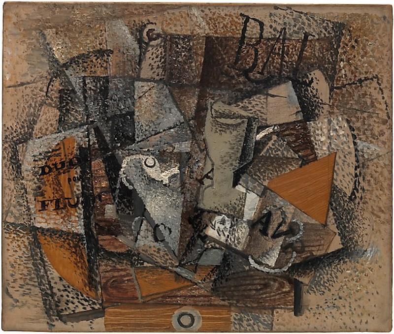 Georges Braque. Stilleben: Duo pour Flute. 1913/1914. Öl / Leinwand. 45,7 x 55,2cm
