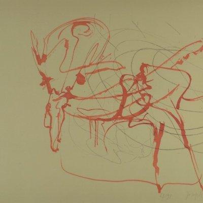 Joseph Beuys. Hirsch und Sonne (aus Spur 1). 1974