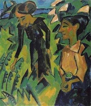 Karl Schmidt Rottluff. Zwei Frauen. 1914. Öl 7 Leinwand