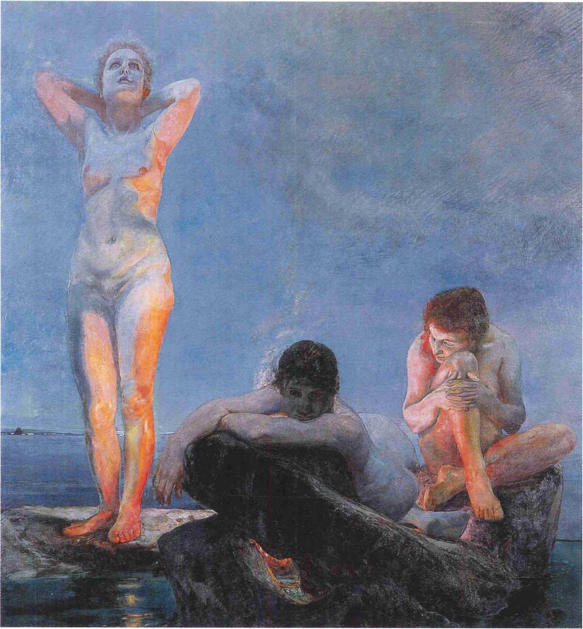 Max Klinger . L' heure bleue . 1890 . 191,5 x 176 cm
