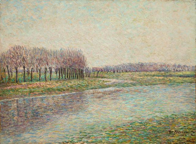 Paul Baum . Fluss mit Weiden . 1896