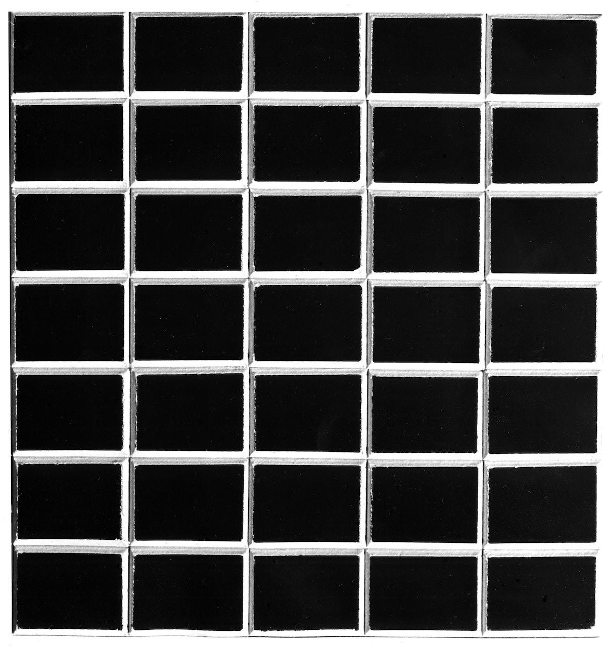 Peter Roehr. Ohne Titel. 1966. Pappe auf Holz. 20,5 x 20cm