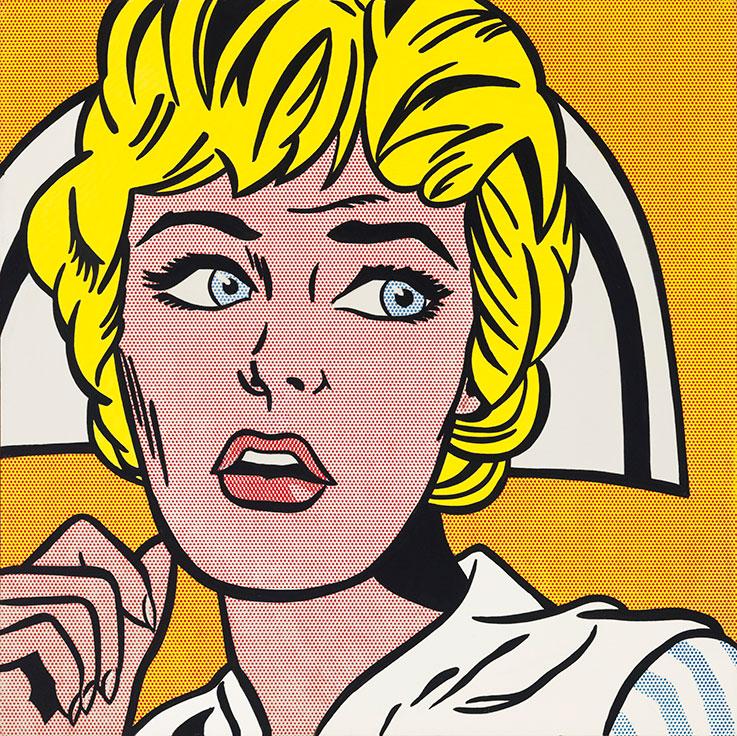 Roy Lichtenstein. Nurse. 1964. Öl / Leinwand. 121,9 x 121,9 cm