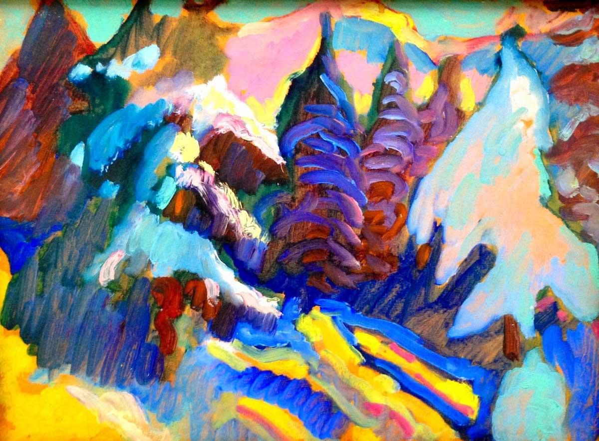 Wassily Kandinsky . Verschneite Landschaft