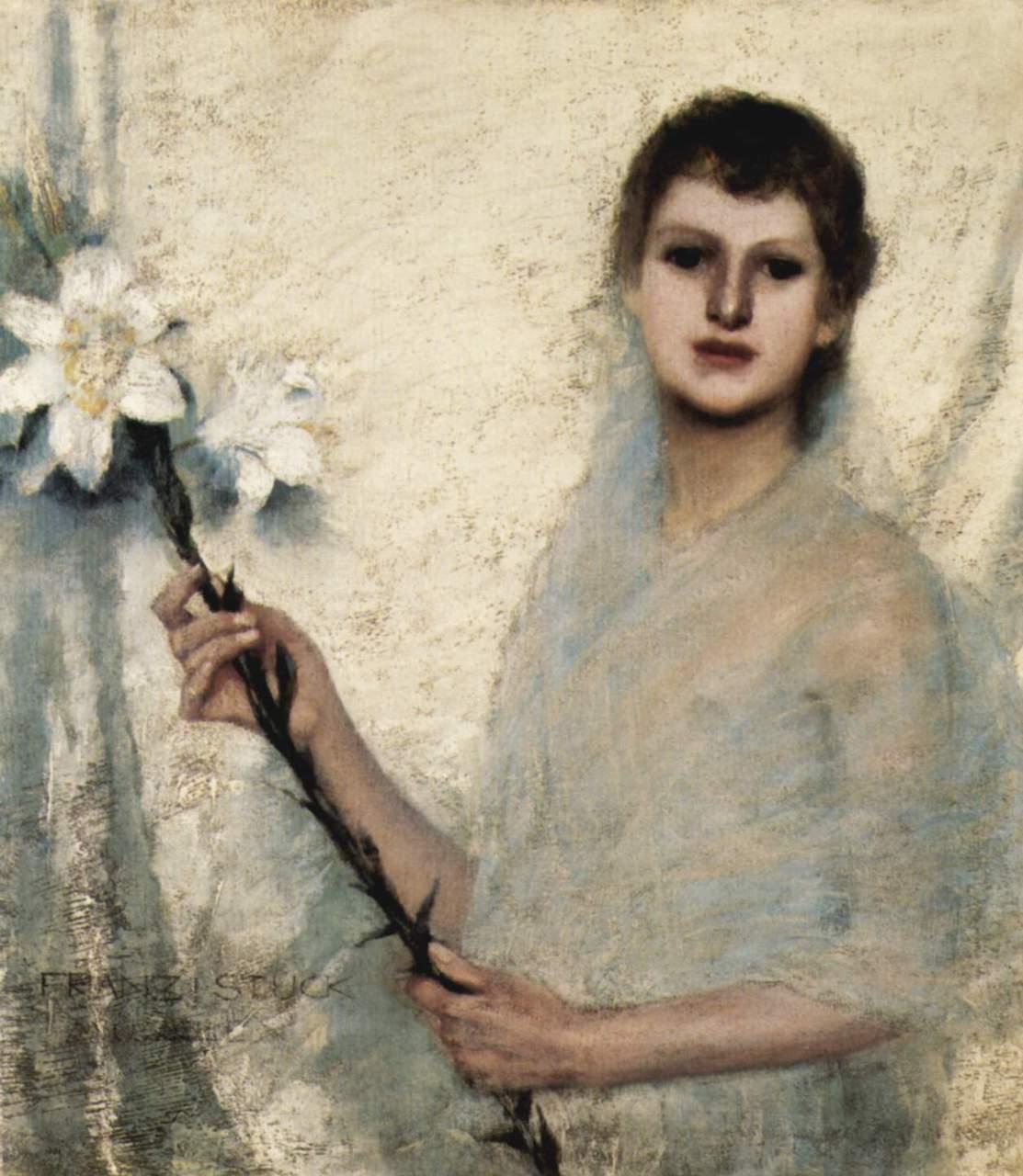 Franz von Stuck. Unschuld. 1889. Öl / Leinwand. 68 x 61cm