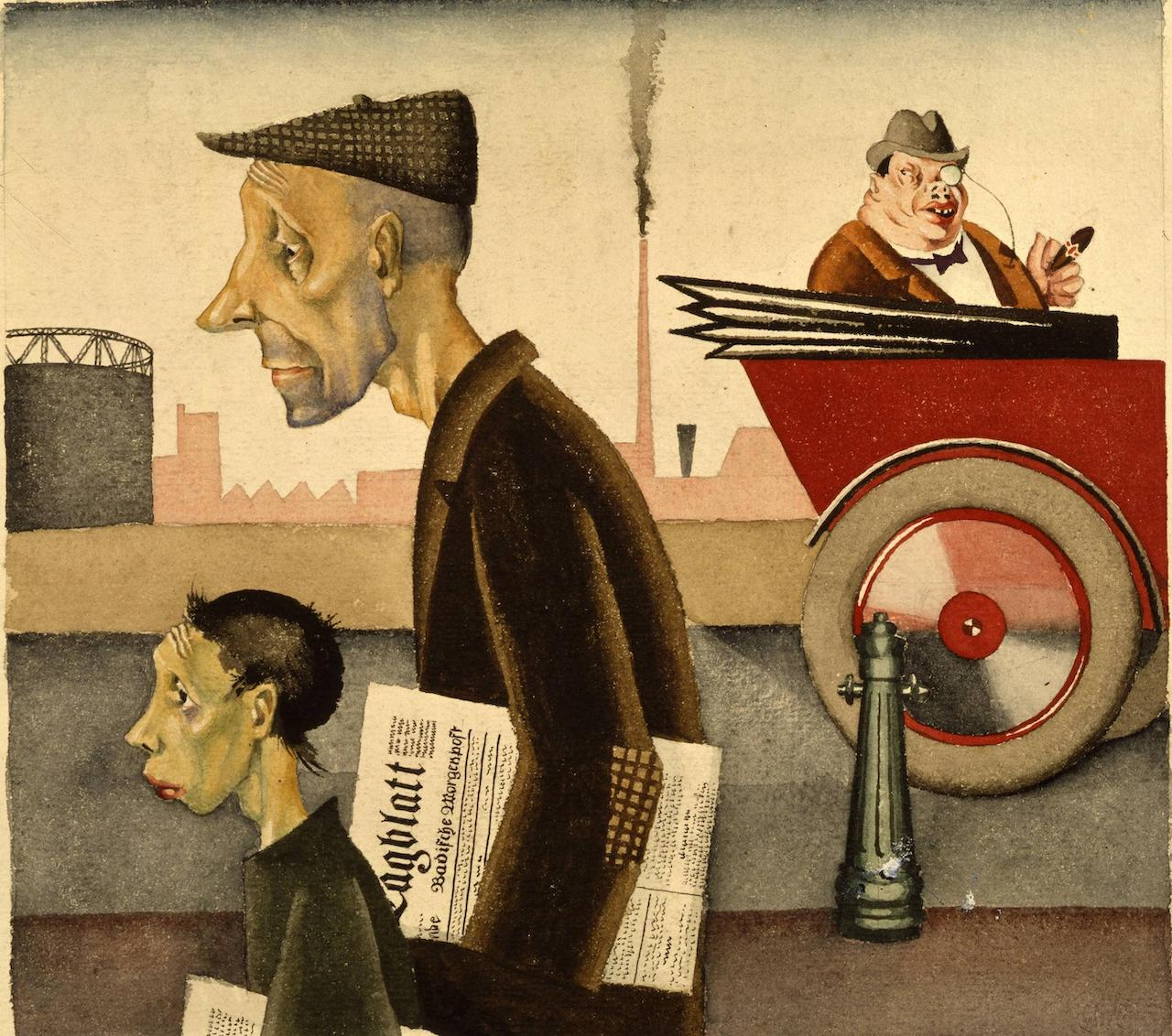 Georg Scholz. Arbeit schändet. 1920/1921.