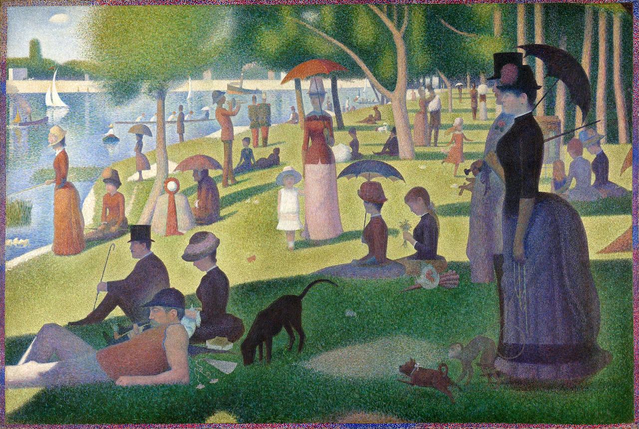 Georges Seurat. Ein Sonntagnachmittag auf der Insel Grande Jatte. 1884-1886. Öl / Leinwand. 207,6 x 308cm