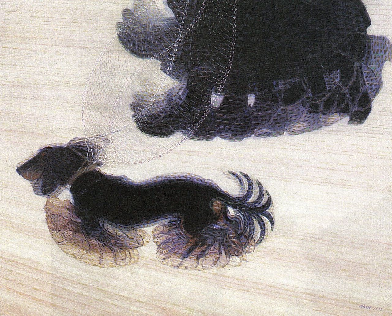 Giacomo Balla. Dynamik eines Hundes an der Leine. 1912. Öl / Leinwand