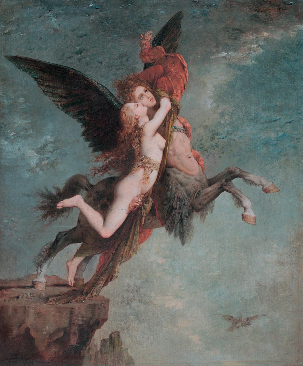 Gustave Moreau. Chimäre. 1867. Öl / Leinwand. 33 x 27,3 cm