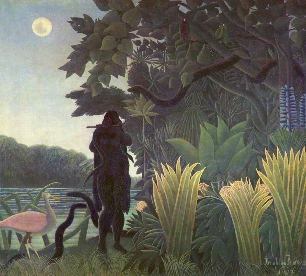 Henri Rousseau. Schlangenbeschwörerin. 1907. Öl / Leinwand. 169 x 190cm