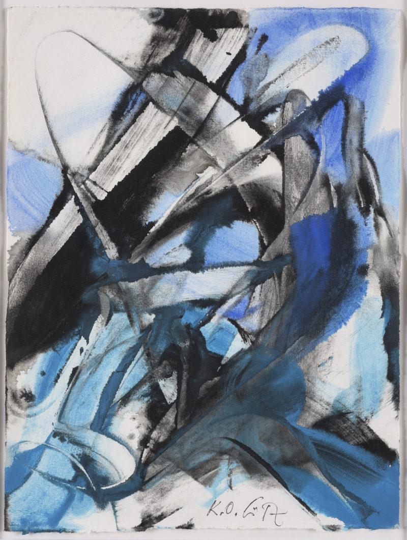 Karl Otto Goetz. Blohn 1966. 1966. Gouache auf Papier. 34,8 x 26,4cm