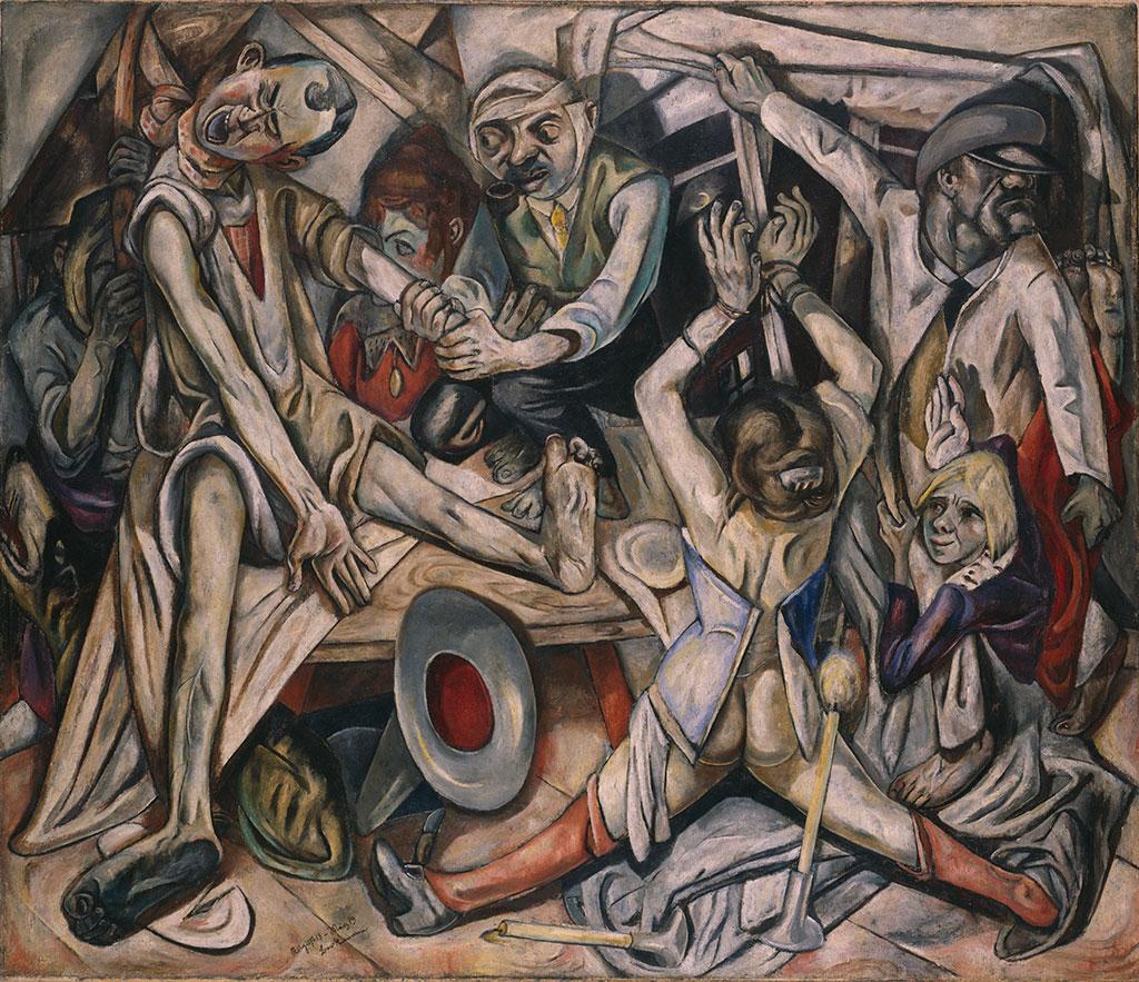 Max Beckmann. Die Nacht. 1918/1919. 133 x 154cm