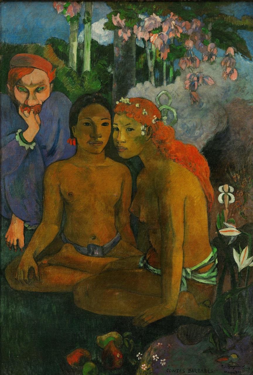 Paul Gauguin. Contes Barbares. 1902. Öl / Leinwand. 131,5 x 90,5cm