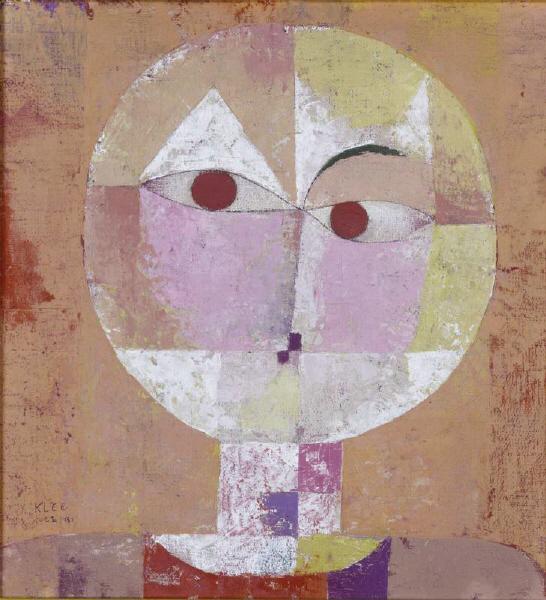 Paul Klee. Senecio. 1922. Öl auf Kreidegrung auf Gaze auf Karton. 40,3 x 37,4cm