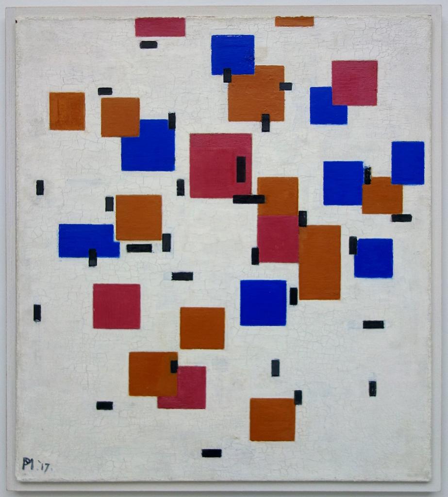 Piet Mondrian. Composition Couleur A. 1917. Öl / Leinwand