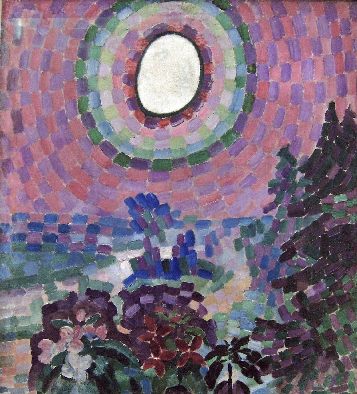 Robert Delaunay. Paysage au disque. 1906. Öl/ Leinwand
