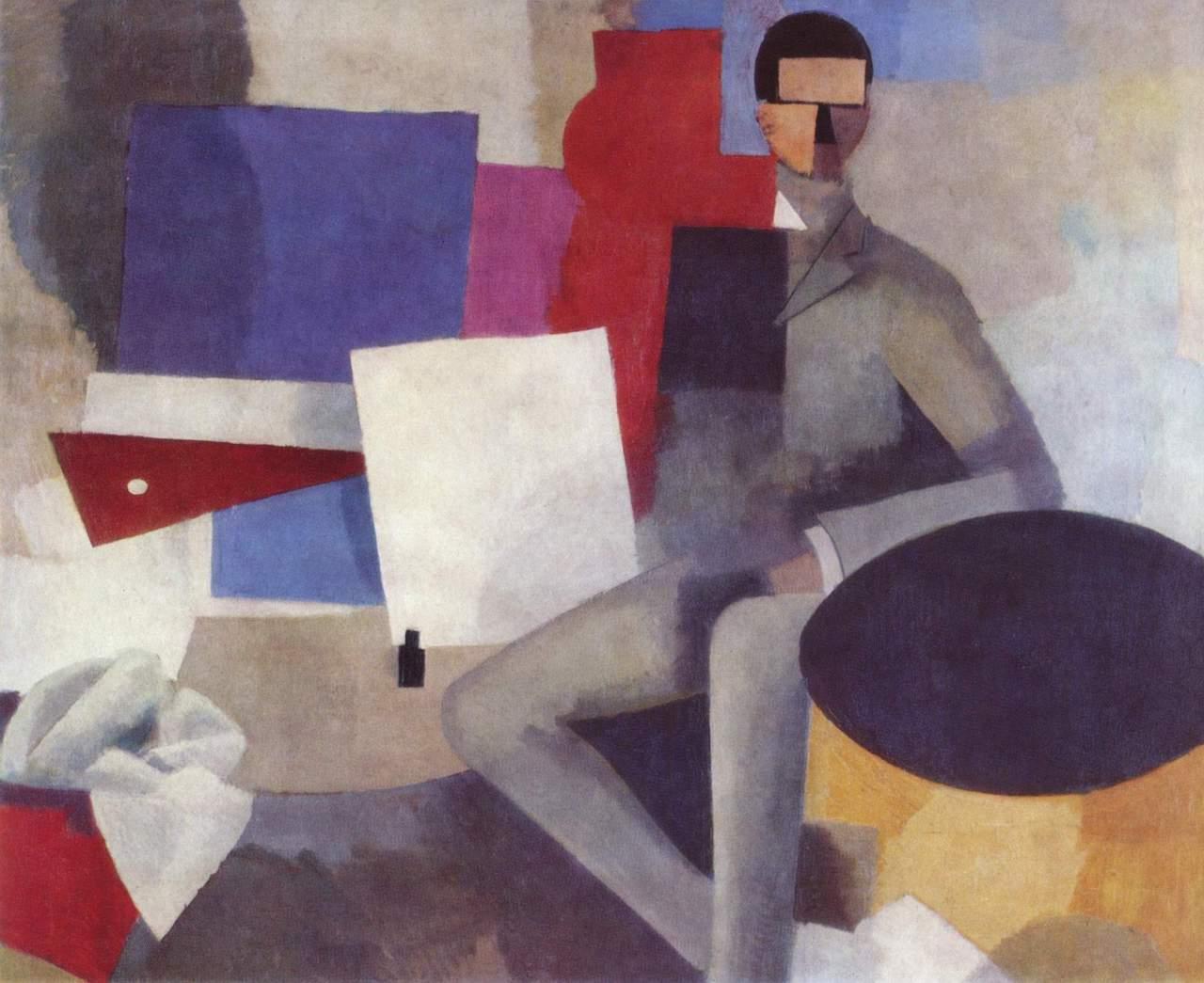 Roger de la Fresnay. Sitzender Mann. 1914. Öl / Leinwand. 131 x 162cm