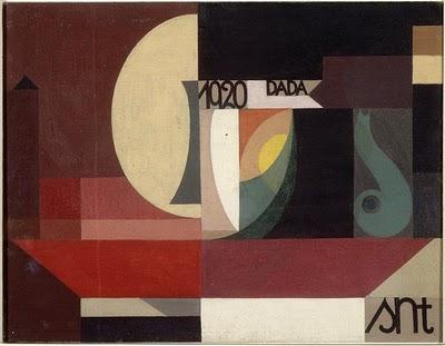 Sophie Taeuber Arp. Composition Dada 1920. Öl / Leinwand