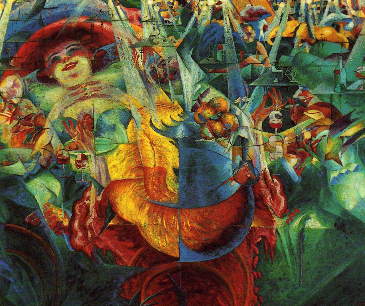 Umberto Boccioni. Das Lachen. 1911. Öl / Leinwand