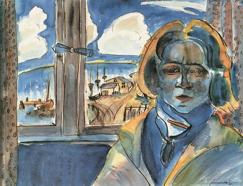 Walter Gramatté. Das Mädchen am Fenster (Sonia Gramatté). 1921