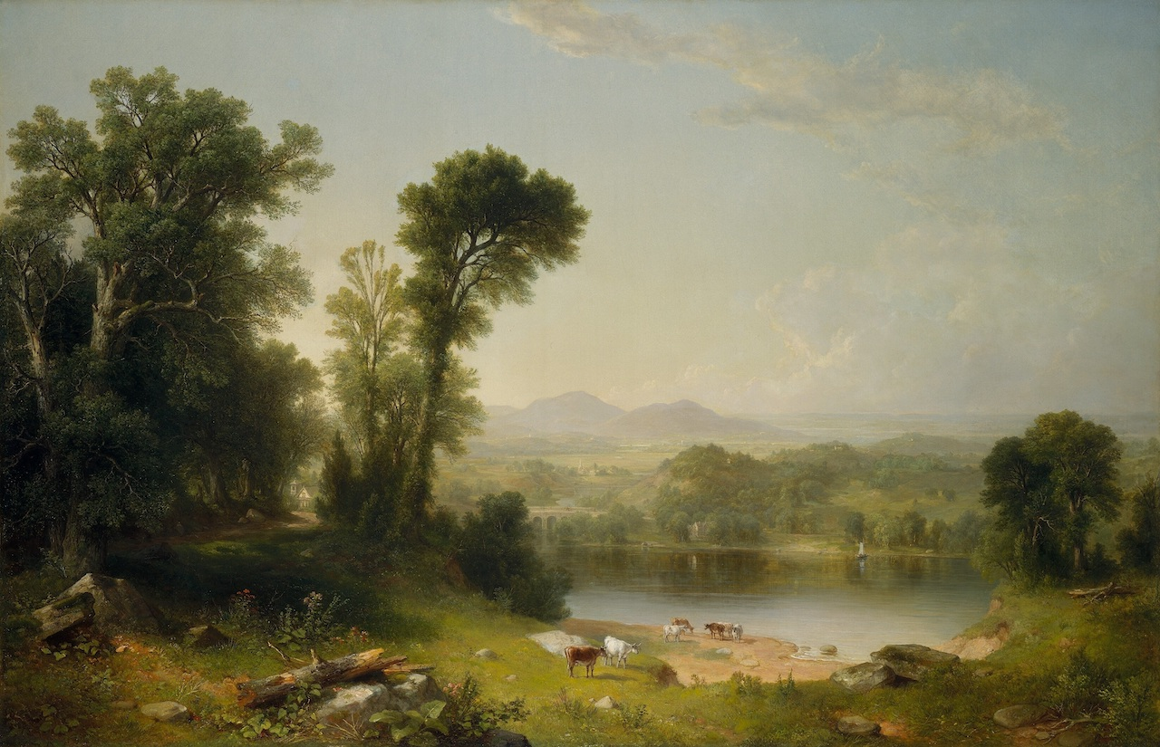 Asher Brown Durand. Pastoral Landscape. 1861. Öl / Leinwand.