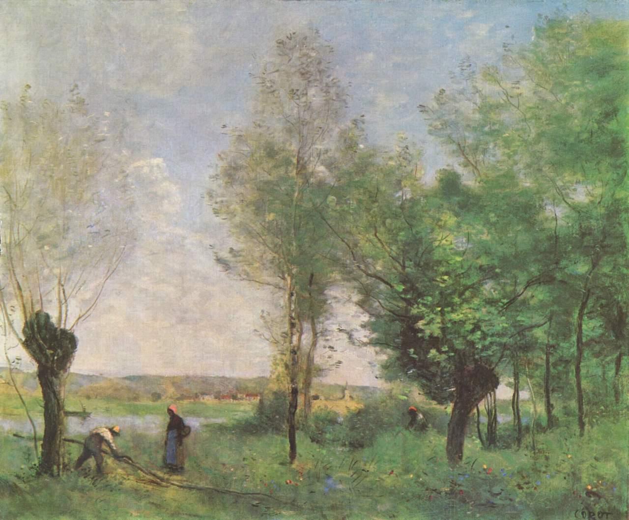 Jean-Baptiste-Camille Corot. Erinnerung an Coubron. 1872. Öl / Leinwand. 46 x 55,3cm