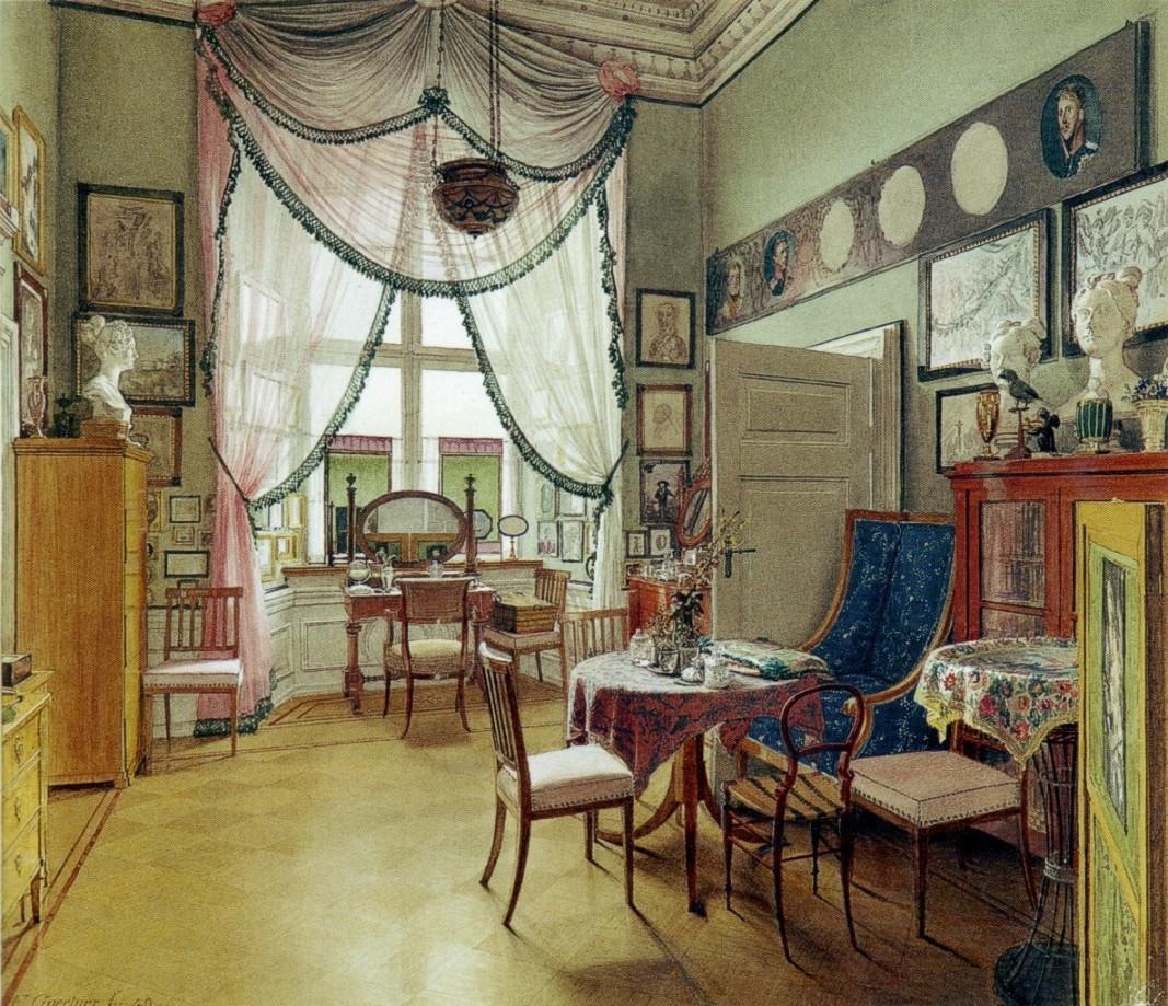Eduard Gaertner. Zimmerbild. 1849.