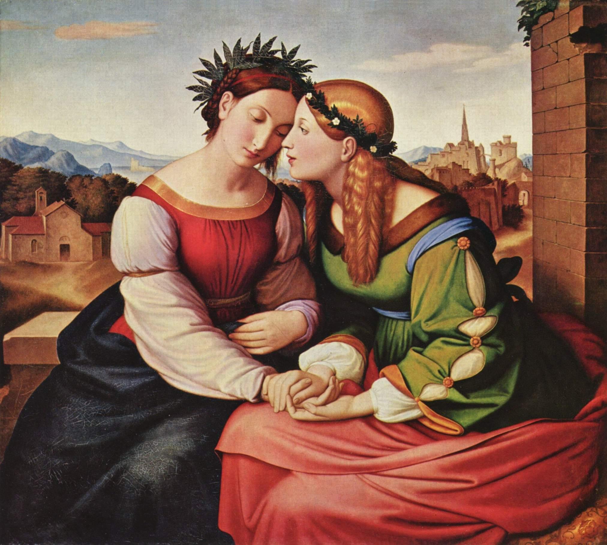 Friedrich Overbeck. Germania und Italia. 1811-1823. Öl / Leinwand. 94 x 104cm