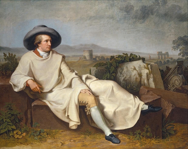 Johann Heinrich Wilhelm Tischbein. Goethe in der Campagna. 1787. Öl / Leinwand. 164 x 206cm