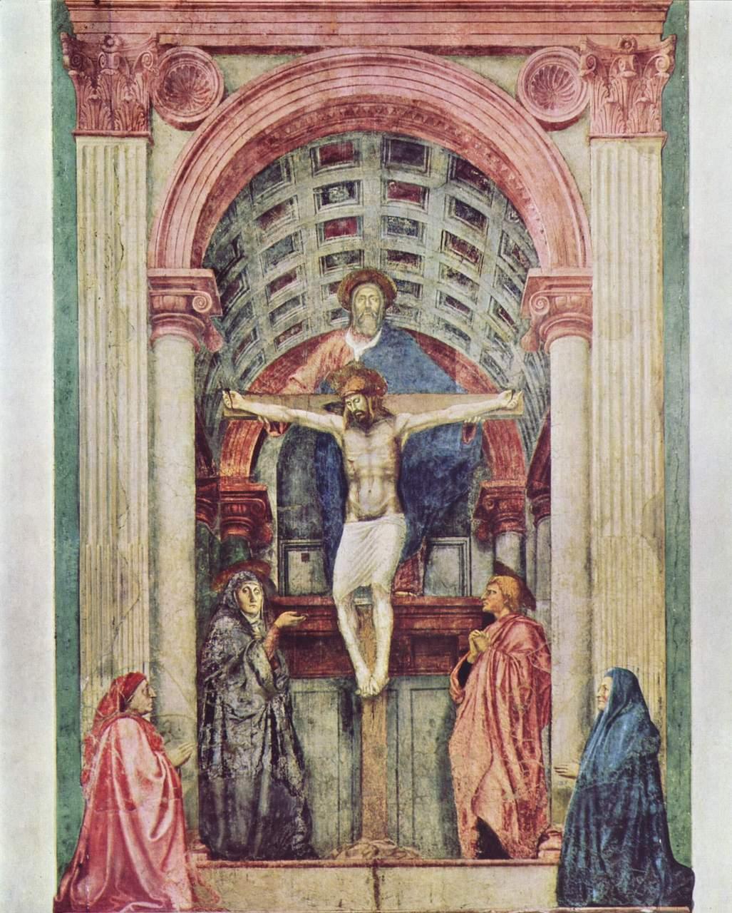 Masaccio. Dreifaltigkeit. 1427. Fresko. 667 x 317cm. S. Maria Novella, Florenz