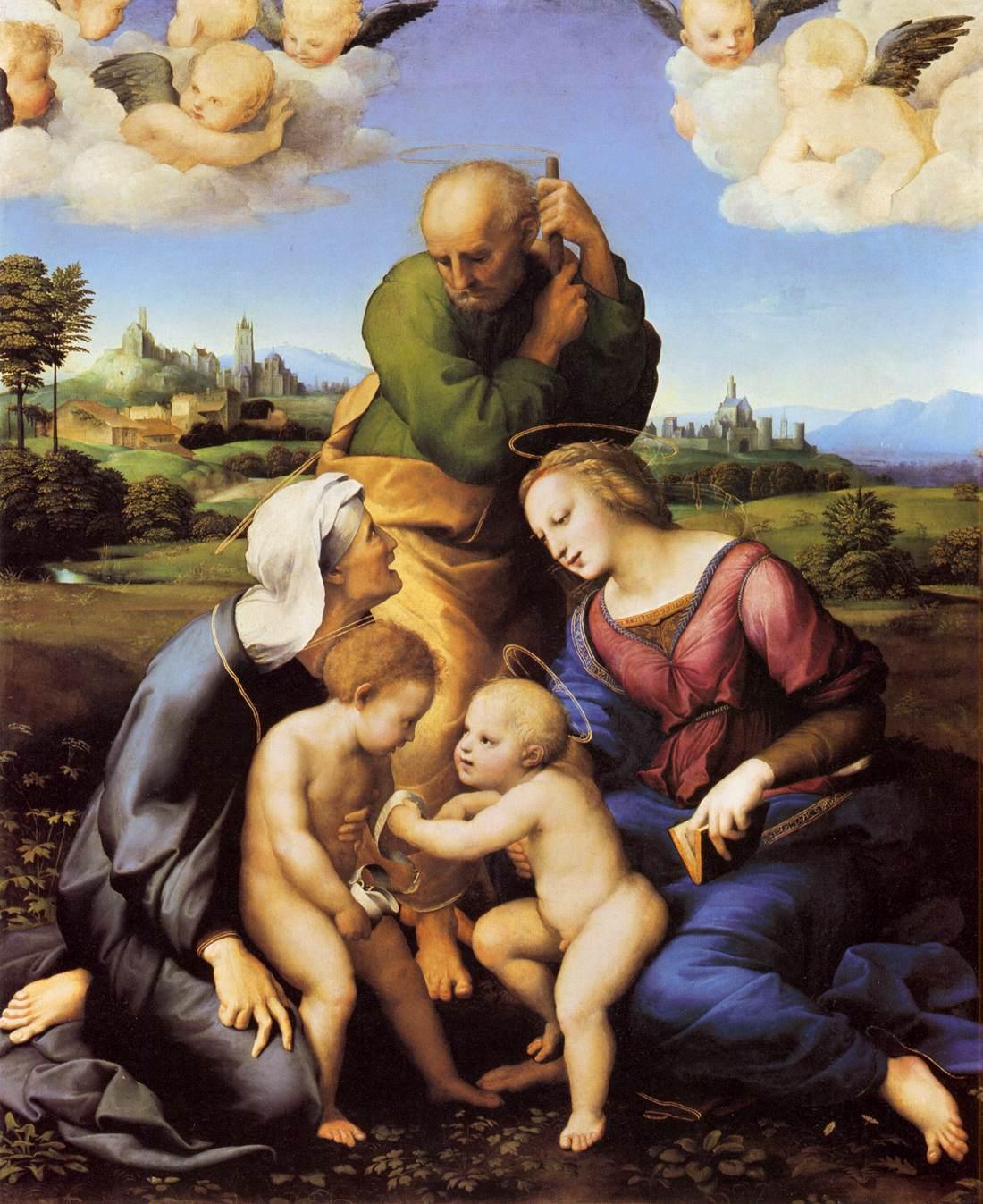 Raffael. Madonna aus dem Hause Canigiani. um 1505/06. Öl / Holz. 131 x 107cm