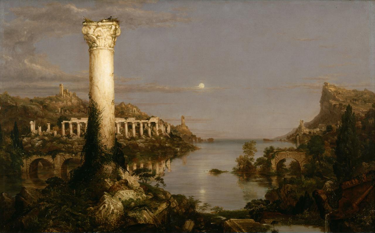 Thomas Cole. The Course of the Empire, Desolation. 1836. Öl / Leinwand. 39,5 x 63,5cm
