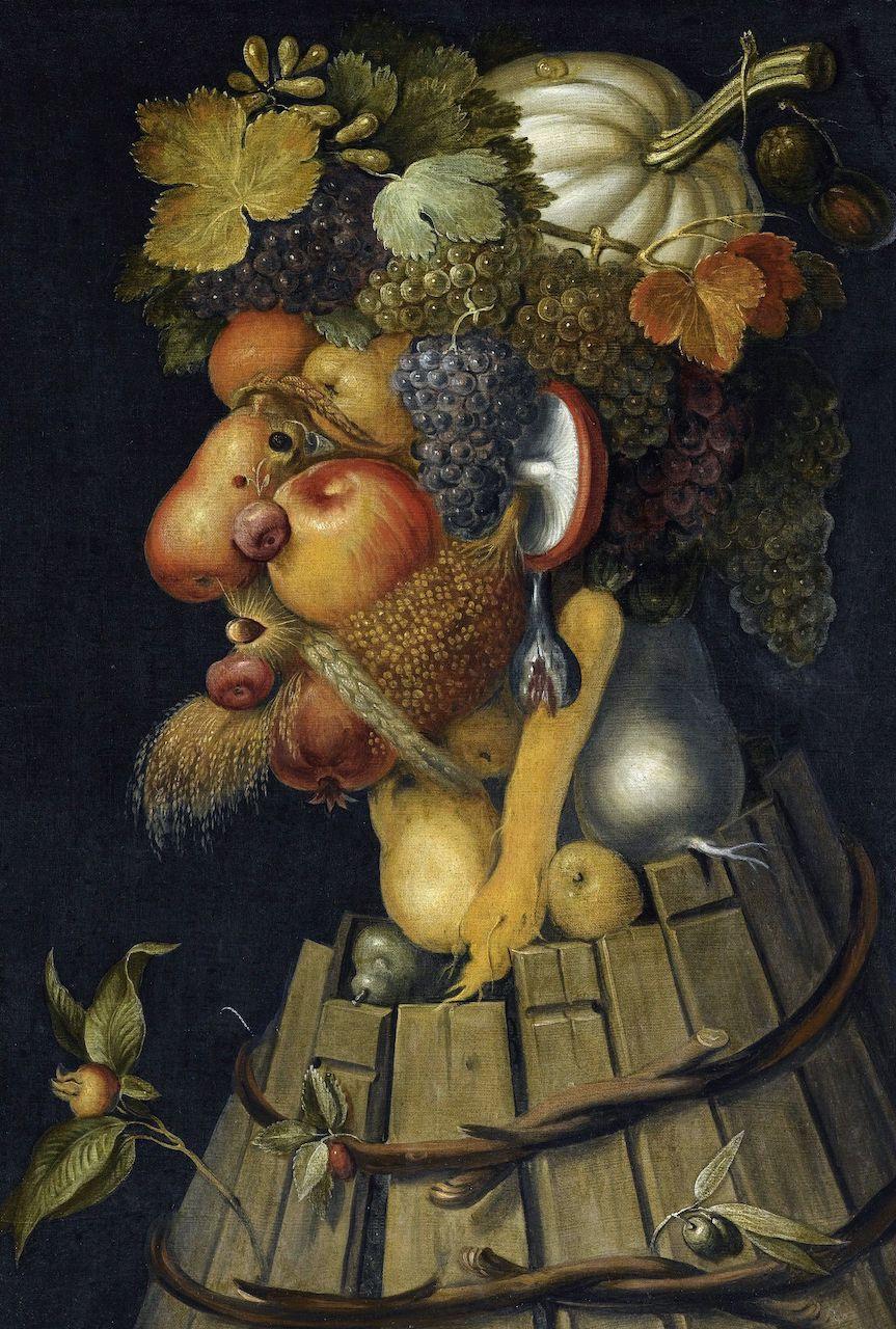 Guiseppe Acrimboldo. Der Herbst. 1573. Öl / Leinwand. 76 x 64cm