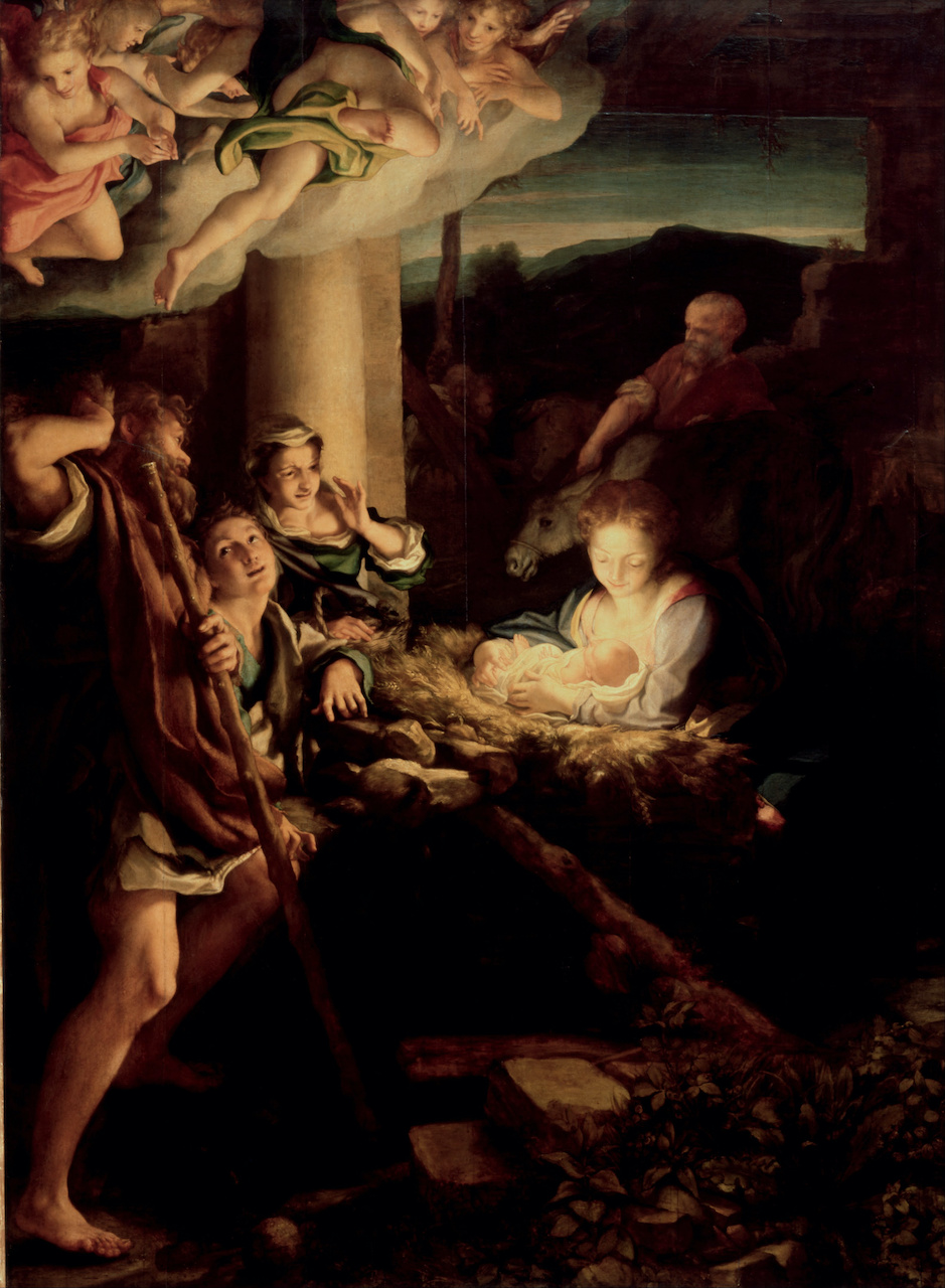 Antonio da Correggio. Die Heilige Nacht. 1530. Öl / Holz.