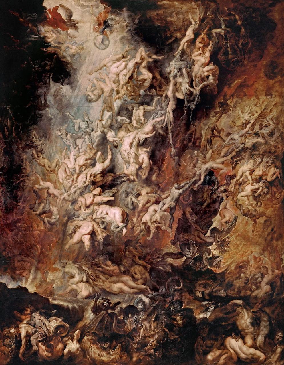 Peter Paul Rubens. Höllensturz der Verdammten. um 1620. Öl / Holz. 288 x 255cm
